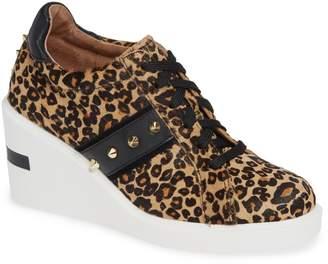 Linea Paolo Kesha II Studded Genuine Calf Hair Wedge Sneaker