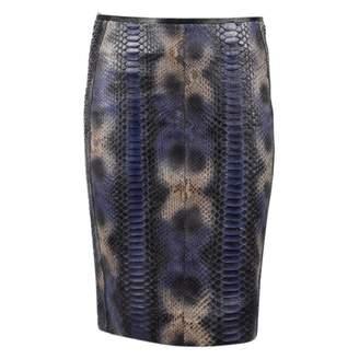 Reed Krakoff Blue Python Skirts