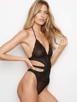 Very Sexy Fishnet Lace Cutout Teddy