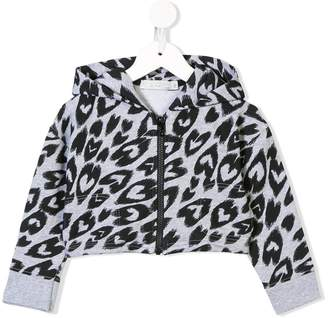 Stella McCartney Biro heart print hoodie