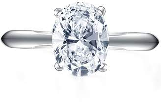 Epinki Custom Ring-925 Sterling Wedding Band Engagement Ring Cubic Zirconia Oval US Size 8