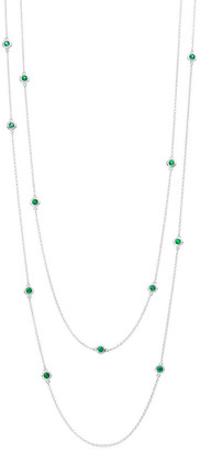 063d1284f Tiffany & Co. Elsa Peretti Color by the Yard sprinkle necklace in silver  with tsavorites
