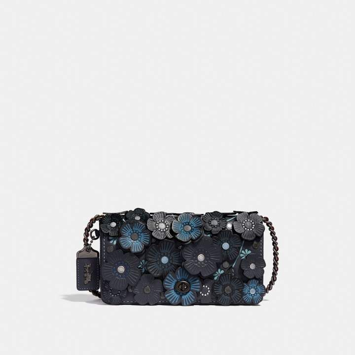 Coach New YorkCoach Dinky With Tea Rose - MIDNIGHT NAVY/BLACK COPPER - STYLE