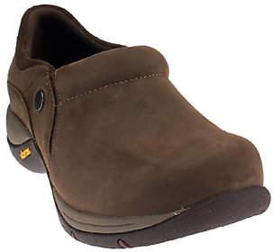 Dansko Nubuck Stain Resistant Slip-on Shoes w/Vibram -Celeste