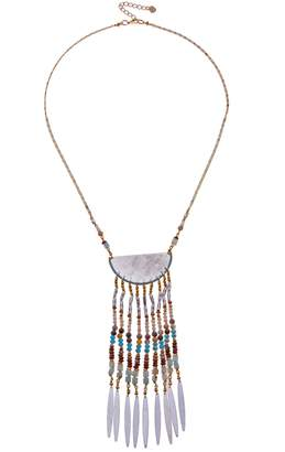Nakamol Design Beaded Fringe Pendant Necklace