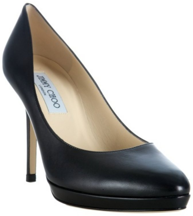 Jimmy Choo black leather 'Aimee' pumps