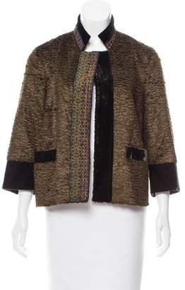Etro Embroidered Open Front Jacket