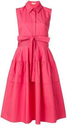 DELPOZO sleeve-less flared shirt dress