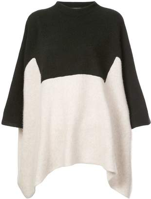 The Elder Statesman colour block cropped sleeves jumper