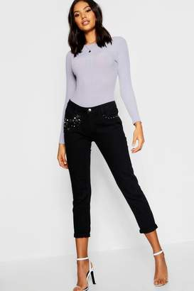 boohoo Embellished Skinny Jeans