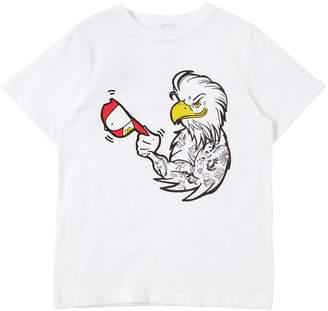 Stella McCartney Eagle Cap Printed Cotton Jersey T-Shirt