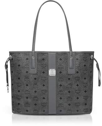 MCM Phantom Grey Visetos Medium Reversible Liz Shopper