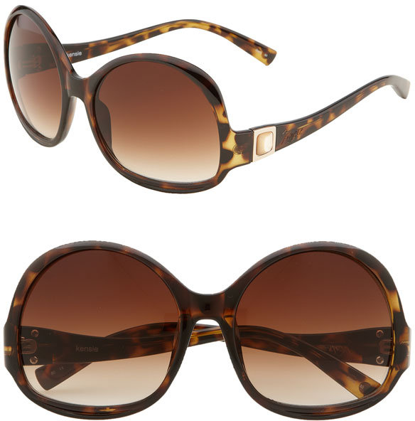 Kensie 'Zeta  Oversized' Round Sunglasses
