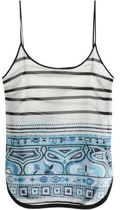 Emilio Pucci Printed Silk And Cotton-blend Tank