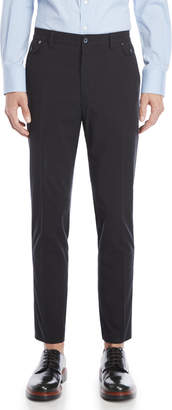 Dolce & Gabbana Black Seersucker Dress Pants