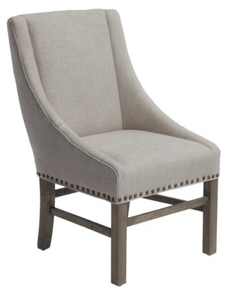 Noble House Jordan Natural Fabric Dining Chair Color Natural