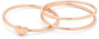 Women's Gorjana Carina Set Of Three Midi Rings $35 thestylecure.com