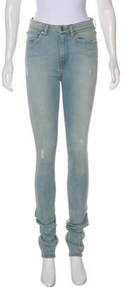 Thomas Wylde Mid-Rise Distressed Jeans blue Mid-Rise Distressed Jeans