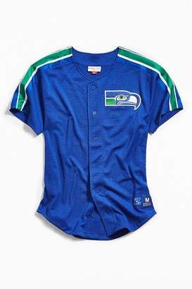 Mitchell & Ness Seattle Seahawks Button-Front Jersey