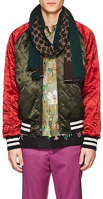 abcf7e167 Gucci Men's GG-Pattern Wool-Silk Scarf - Beige, ...