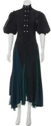 Loewe Short Sleeve Maxi Dress Black Short Sleeve Maxi Dress