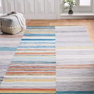 west elm Mixed Stripes Cotton Dhurrie - Multi