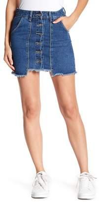 Love + Harmony Fringe Trim Denim Skirt