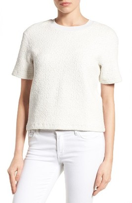 Women's Halogen Textured Short Sleeve Tee $59 thestylecure.com