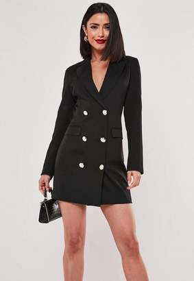 2cf84f998636 Missguided Black Double Breasted Blazer Dress