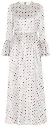 Valentino Polka dot bell-cuff maxi dress