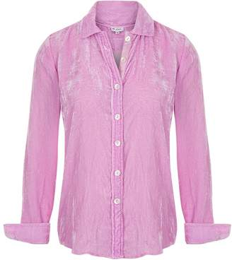 At Last... - Karen Silk Velvet Shirt Pale Pink