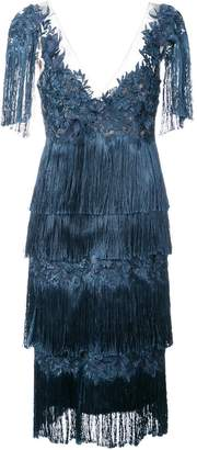 Marchesa fringed dress