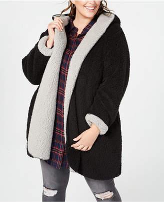Style&Co. Style & Co Plus Size Reversible Faux-Fur Coat