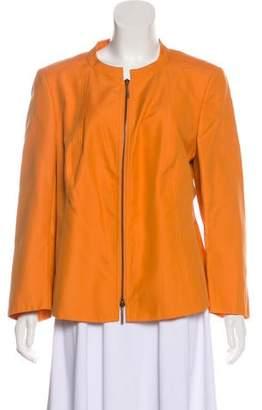 Akris Long Sleeve Collarless Jacket