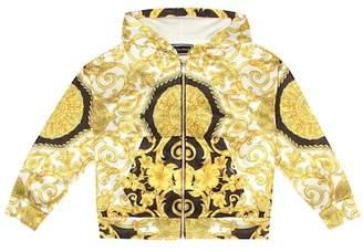 Versace Printed technical hoodie