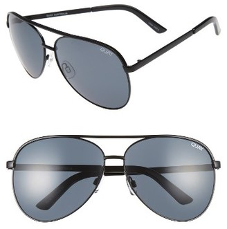 Women's Quay Australia Vivienne 64Mm Aviator Sunglasses - Black/ Smoke $60 thestylecure.com