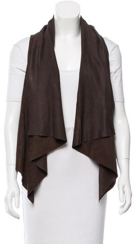 TheoryTheory Draped Suede Vest
