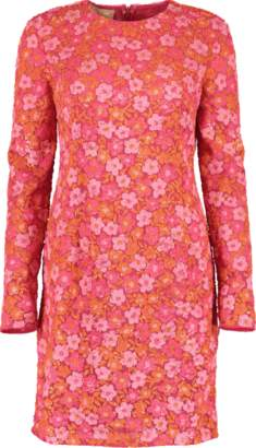 Michael Kors Watermelon Embroidered Dress