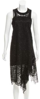 Sacai Guipure Lace Midi Dress w/ Tags