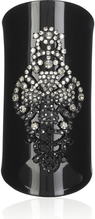Christian Lacroix Embellished acrylic cuff