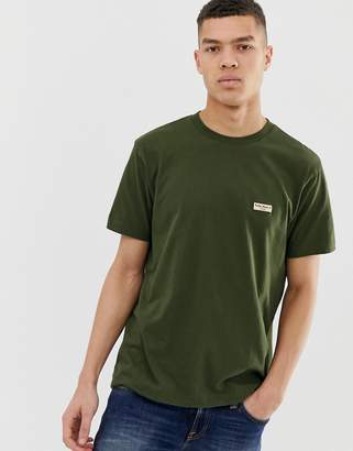Nudie Jeans Daniel logo t-shirt in khaki