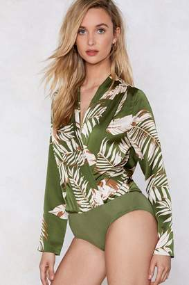 Nasty Gal I Plant Quit Your Love Palm Bodysuit