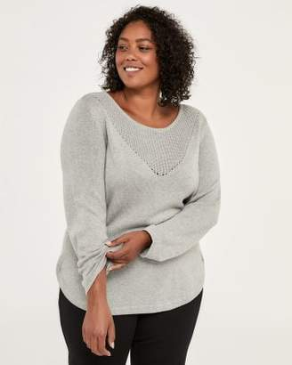 Penningtons Cotton Sweater with Pointelle Stitching - In Every Story