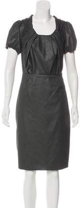 Magaschoni Pleated Knee-Length Dress