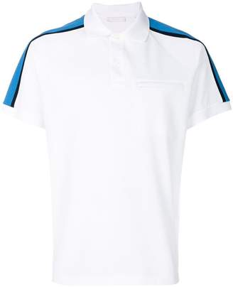 Prada shoulder stripe polo shirt