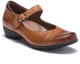 Dansko Fawna Leather Mary Jane Wedge Loafer