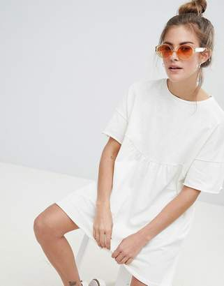 Pull&Bear organic cotton t-shirt dress in white