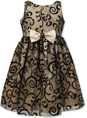 Jayne Copeland Velvet Flocked Special Occasion Dress, Big Girls (7-16) $84 thestylecure.com