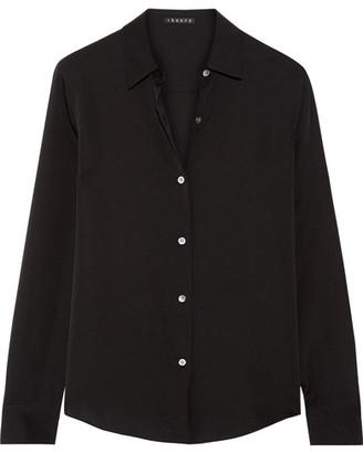 Theory - Silk Crepe De Chine Shirt - Black $275 thestylecure.com
