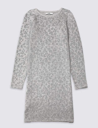 Marks and Spencer Leopard Knitted Dress (3-16 Years)